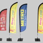 Personnaliser sa PLV avec les oriflammes publicitaires